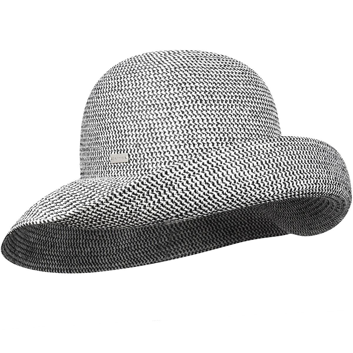 Betmar Classic Roll Up Hat in Black Multi