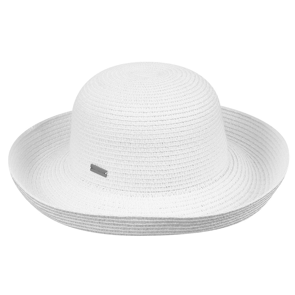 Betmar Classic Roll Up Hat in White