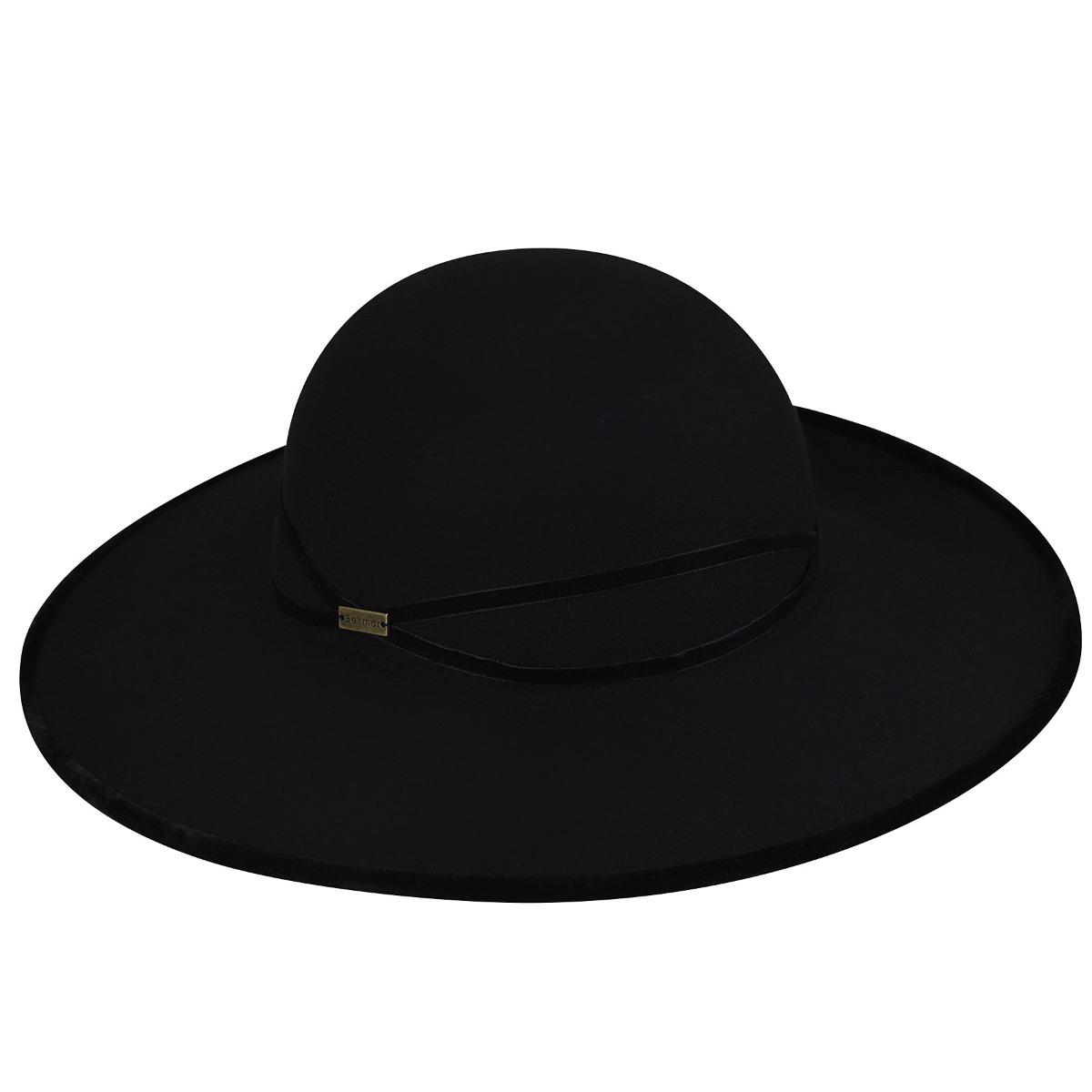 Betmar Marseille Wide Brim Hat in Black