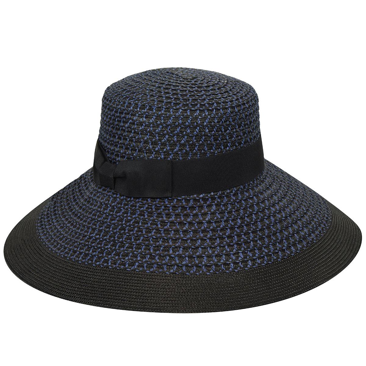 Betmar Audrey Braided Wide Brim Hat in NAVY,BLACK