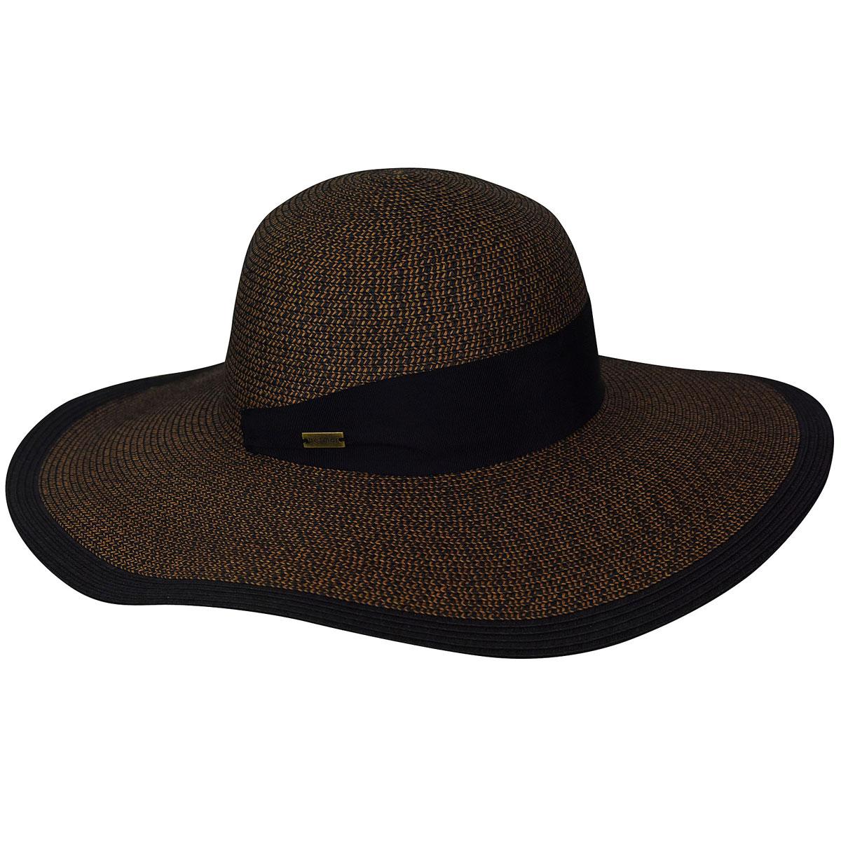 Betmar Barret Braided Floppy Hat in Black,Brown