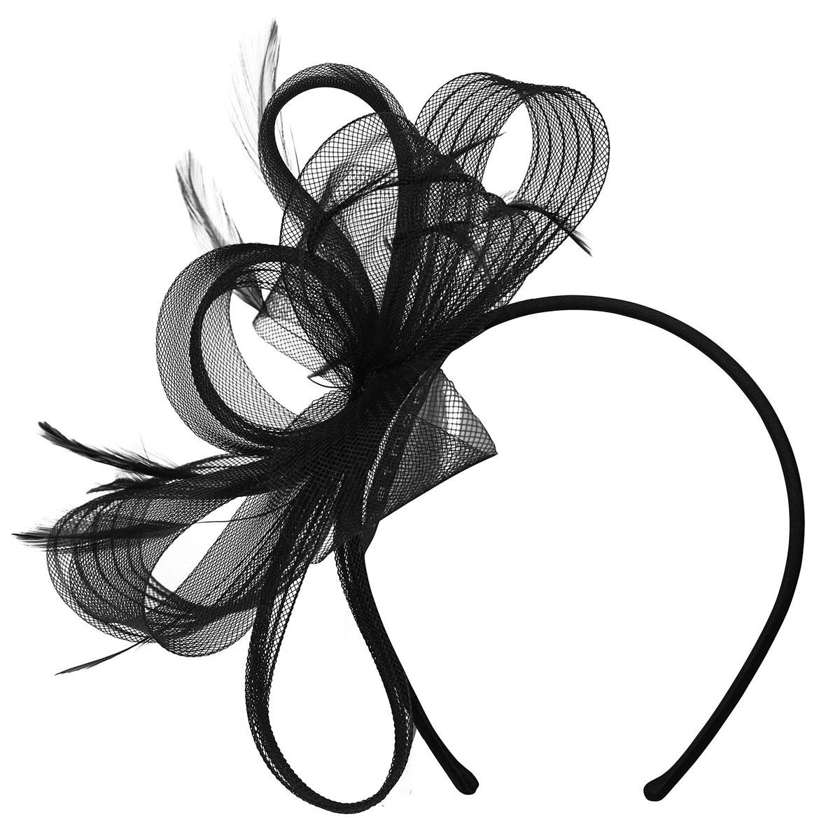Betmar Emmabella Fascinator in Black
