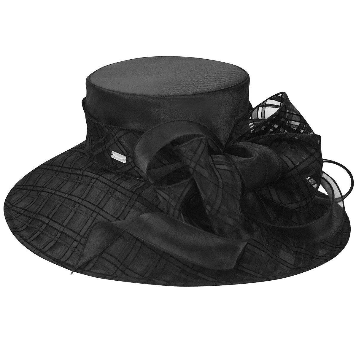Betmar Odette Wide Brim Occasion Hat in Black