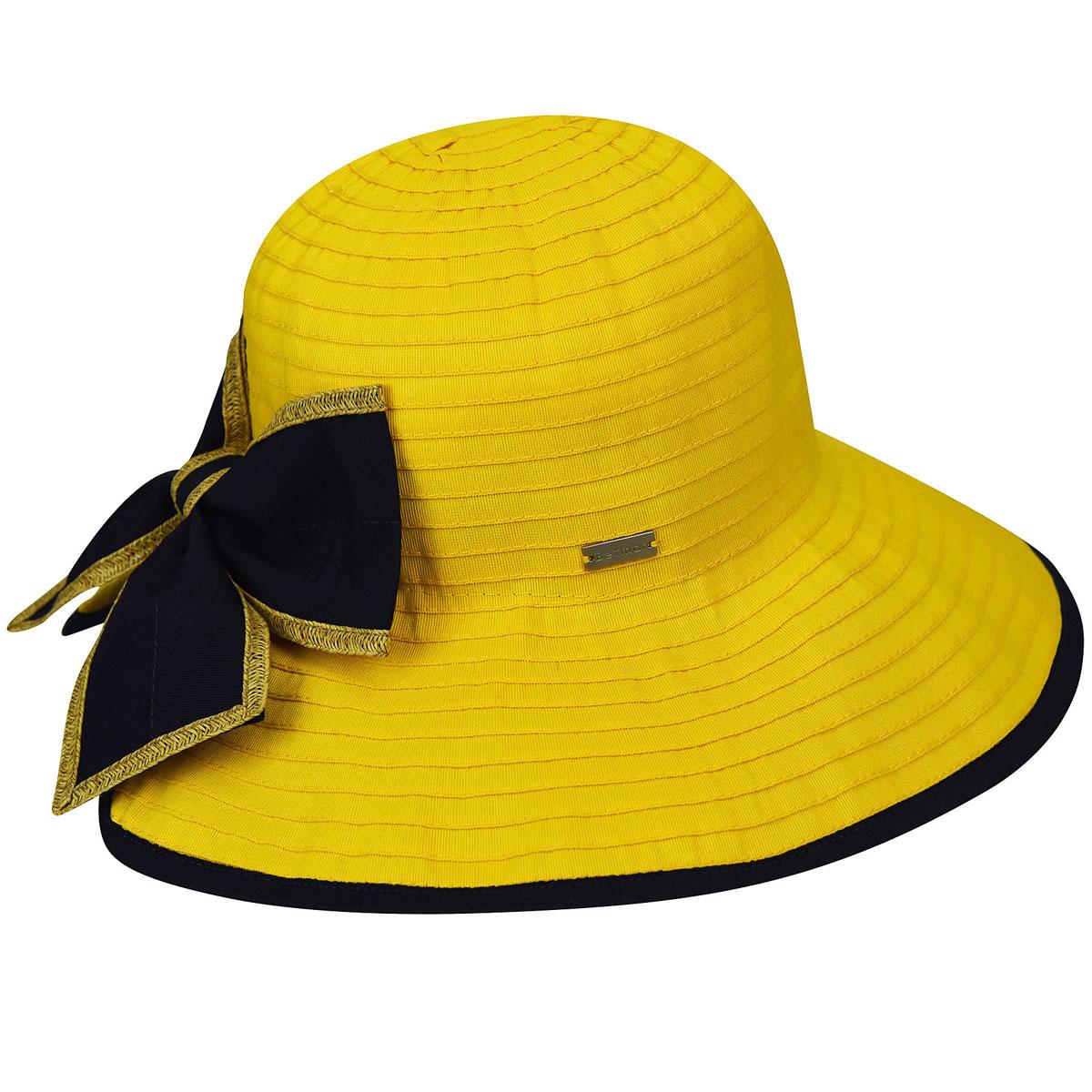 Betmar Malta Ribbon Wide Brim Hat in Sunshine