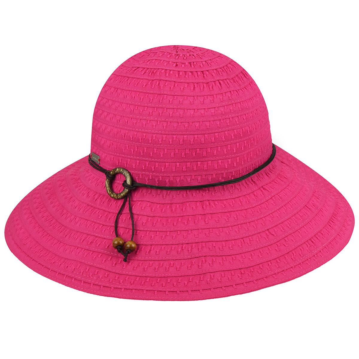 Betmar Coconut Ring Safari Hat in Fuchsia