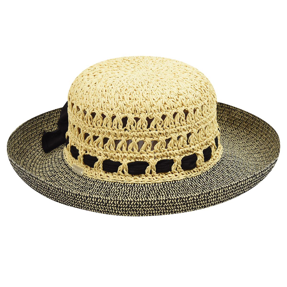 Betmar Maribel Sun Hat in Natural,Black
