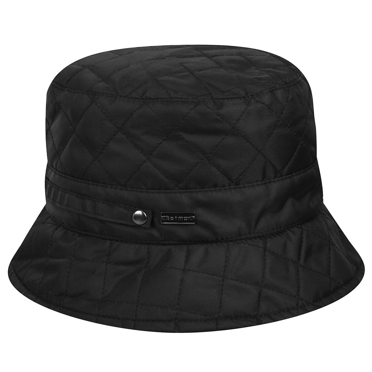 Betmar Quilted Bucket Hat in Black