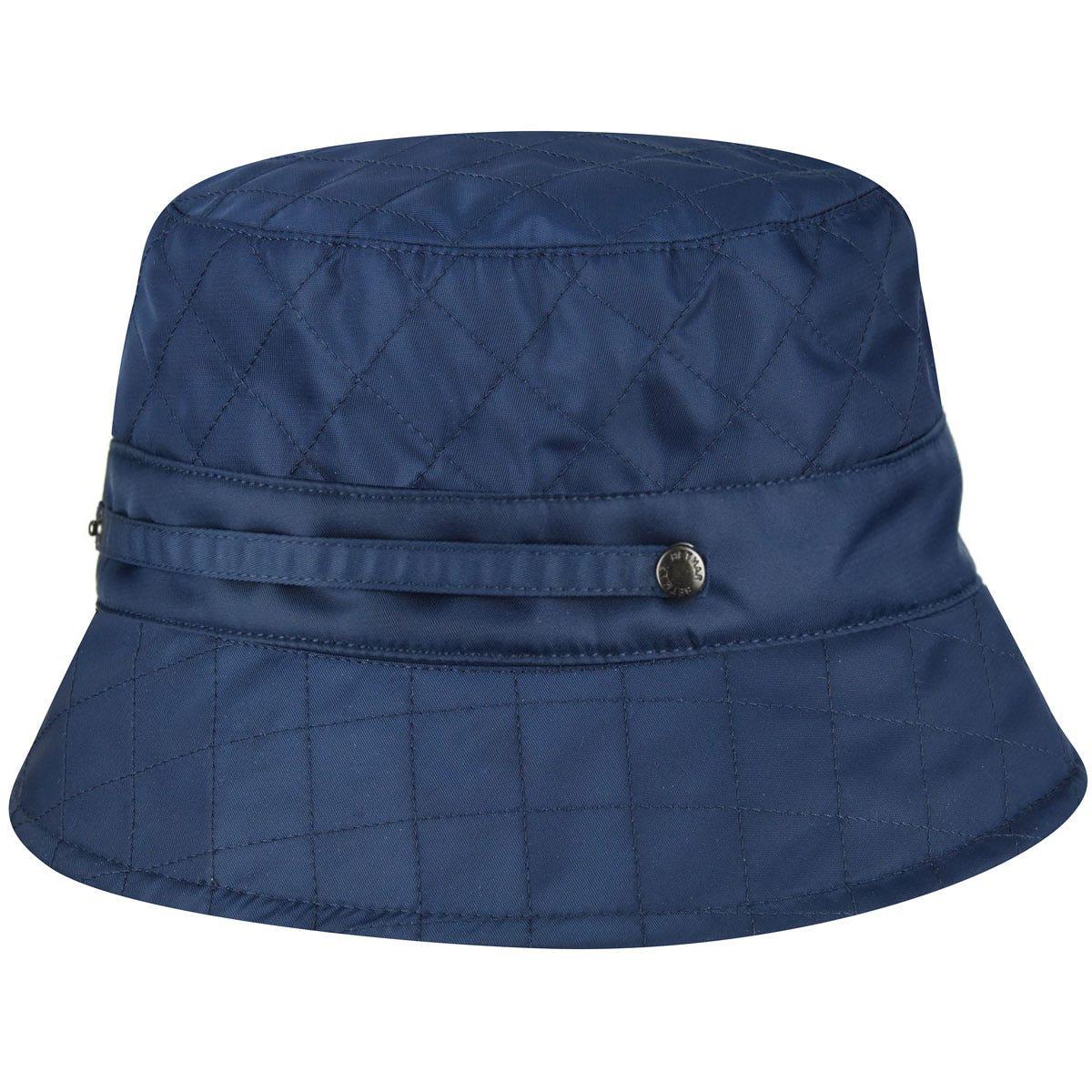 Betmar Quilted Bucket Hat in Navy