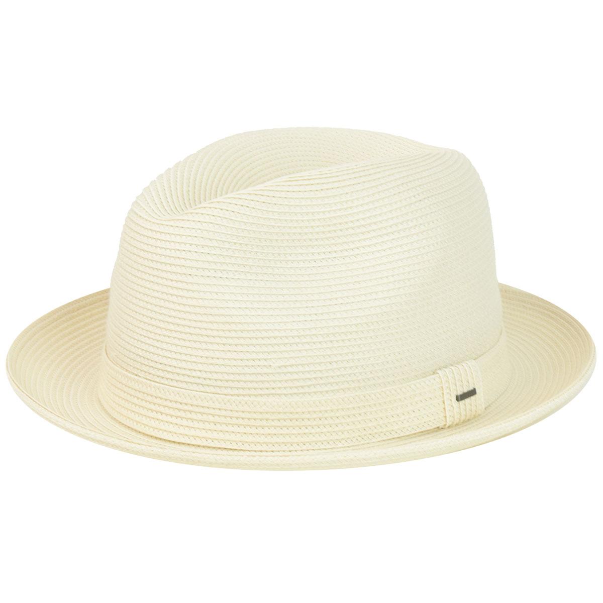 1950s Mens Hats | 50s Vintage Men's Hats Tate Braided Fedora - Off WhiteM $66.00 AT vintagedancer.com