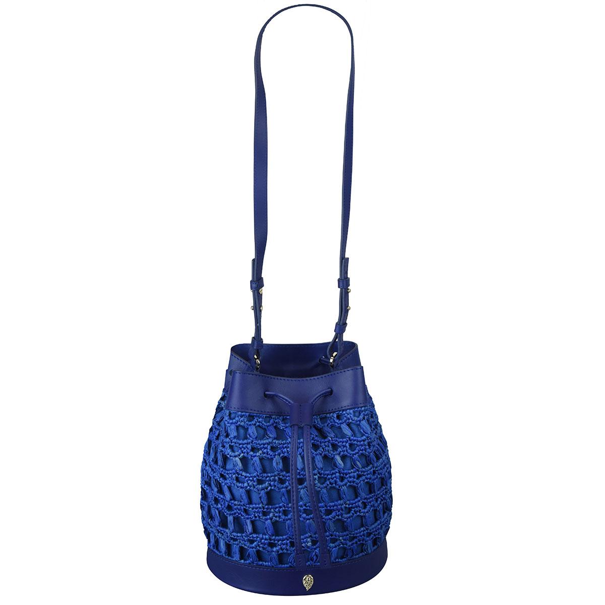 Helen Kaminski Barbados Bucket Bag in Cobalt,Regent