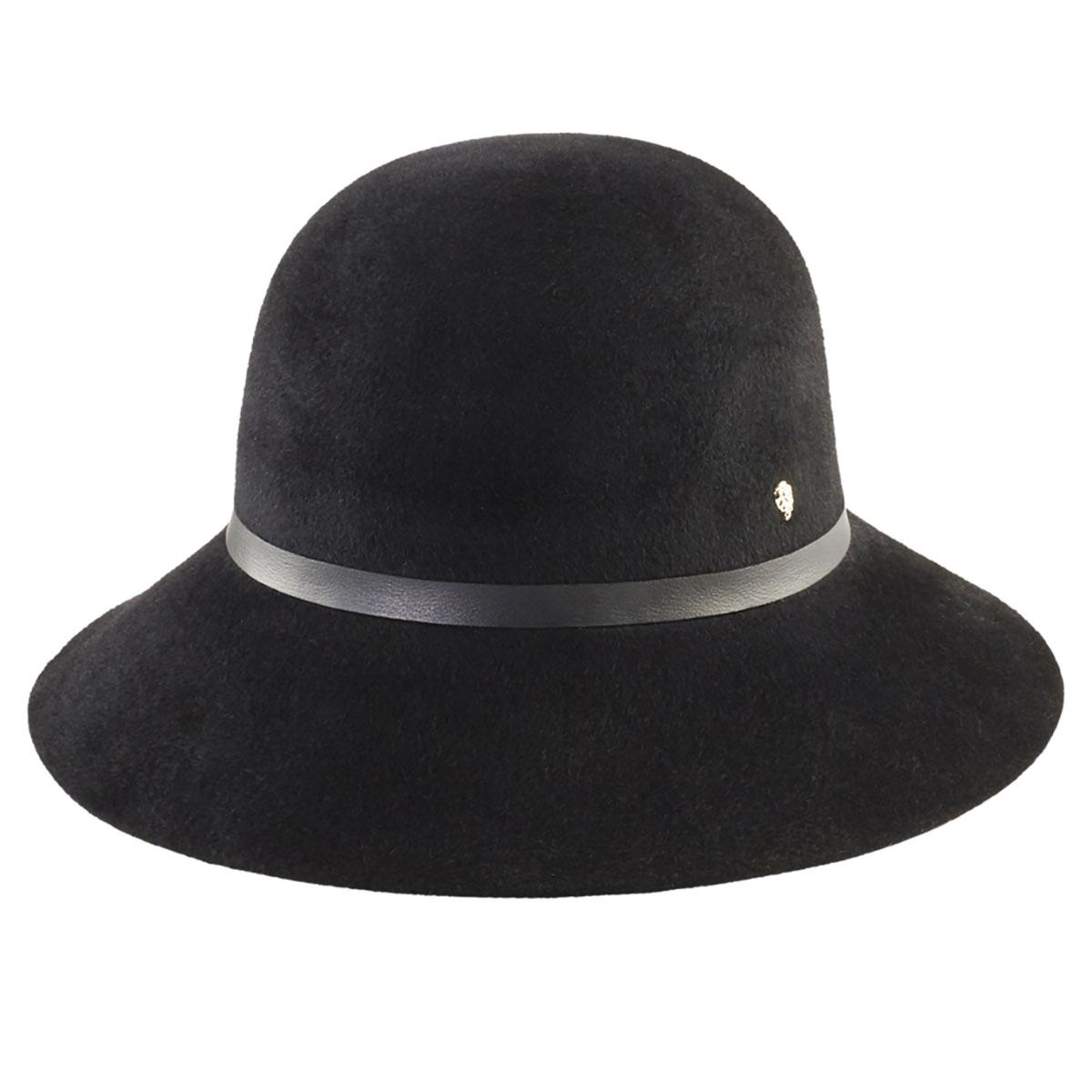 Helen Kaminski Bitsy 9 Cloche in Black,Black