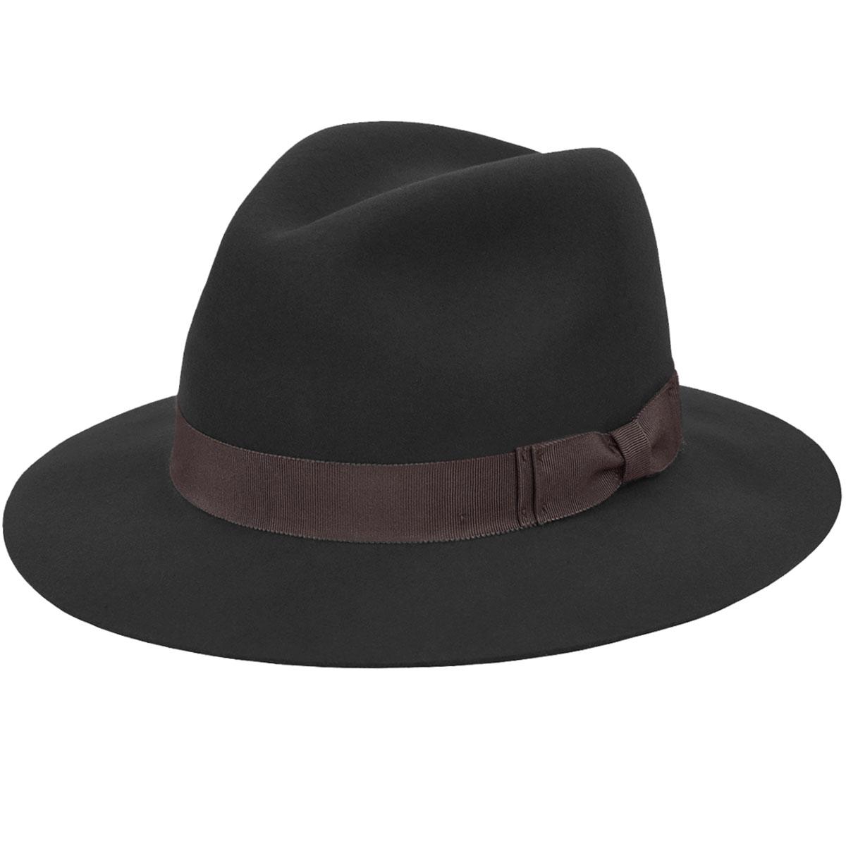 Pantropic Hunter LiteFelt Fedora in Black