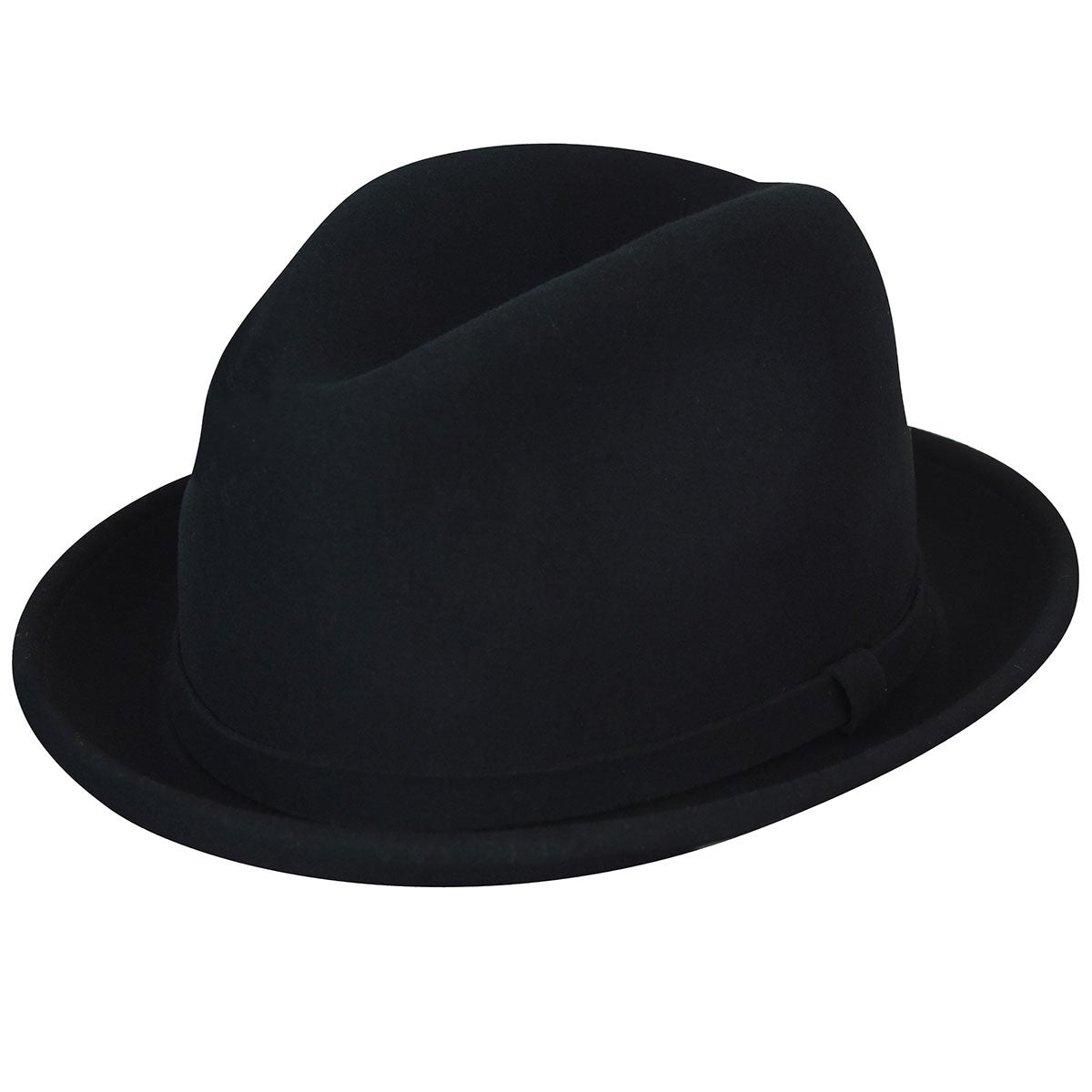 1960s – 70s Style Men's Hats Litefelt Charlie Stingy Brim Fedora $60.00 AT vintagedancer.com