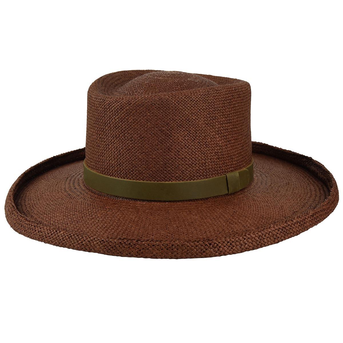 Steampunk Hats for Men | Top Hat, Bowler, Masks Panama Straw Twisted Gambler - ExpressoSM $59.20 AT vintagedancer.com