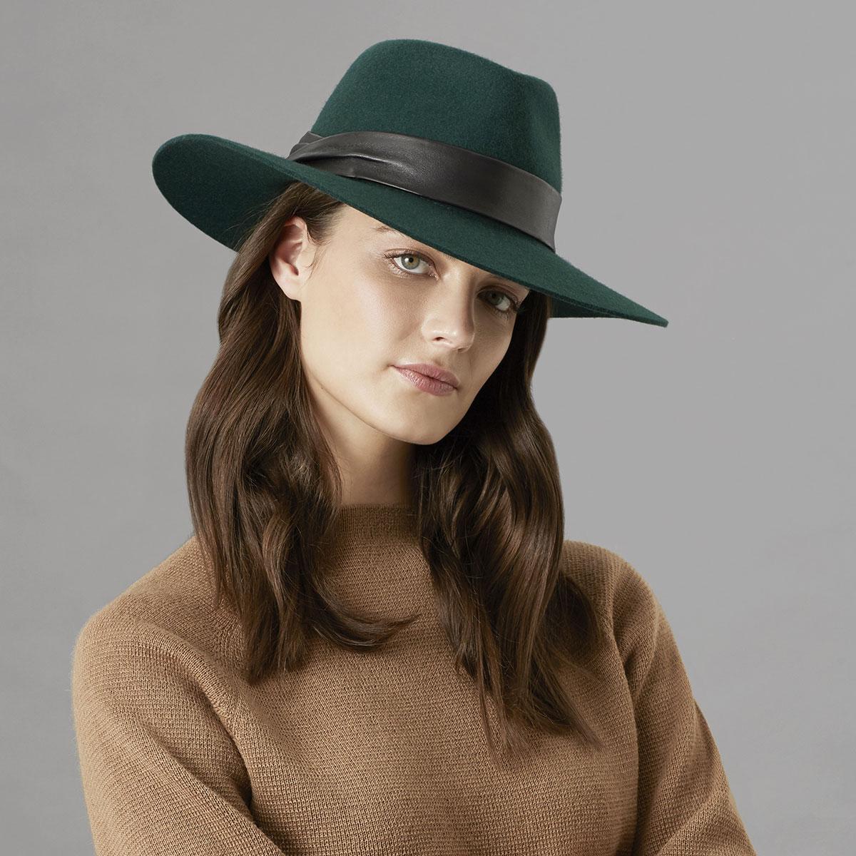Vintage Western Wear Clothing, Outfit Ideas Carie Fedora - Emerald1SFM $150.00 AT vintagedancer.com