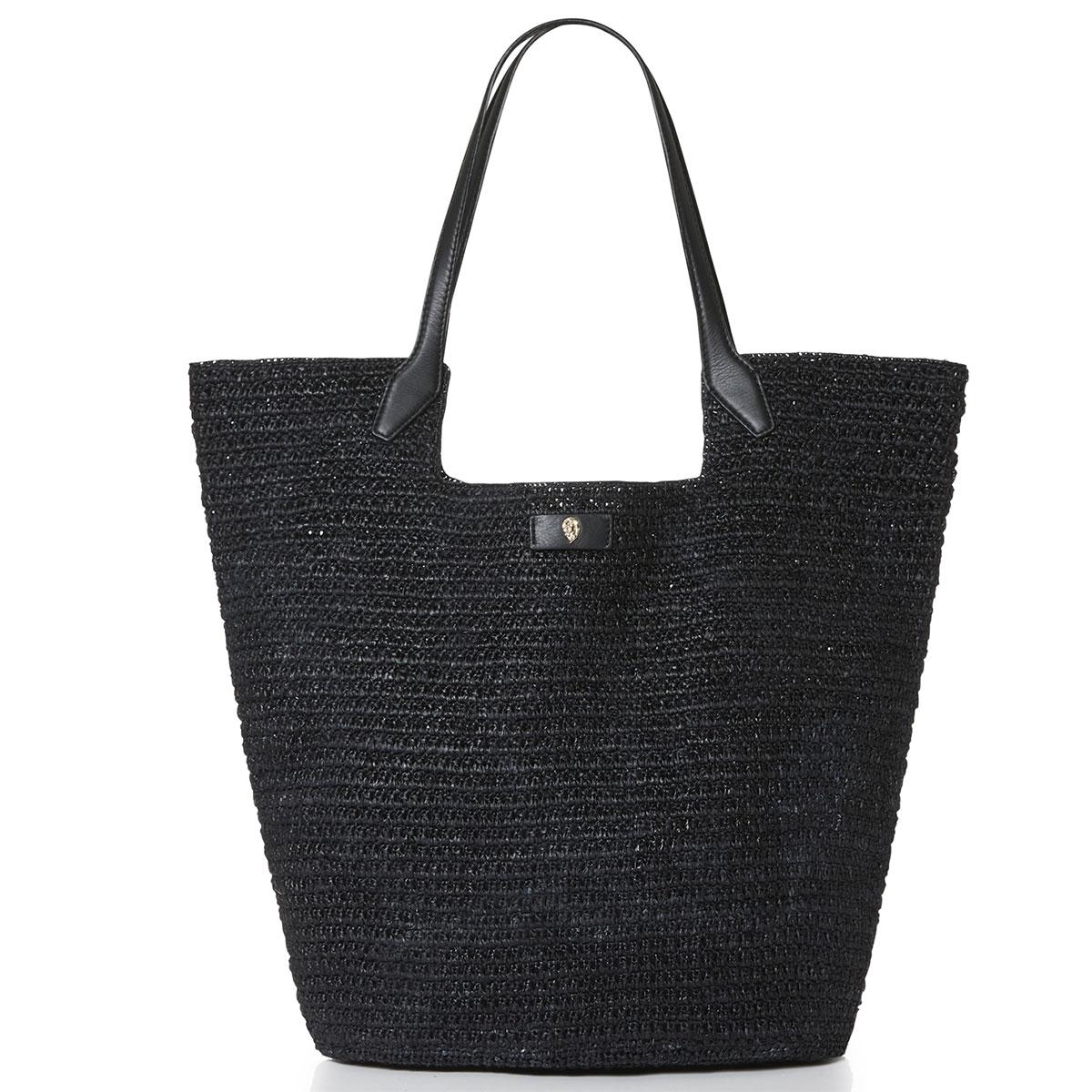 Helen Kaminski Cassia Large Basket in Charcoal,Black
