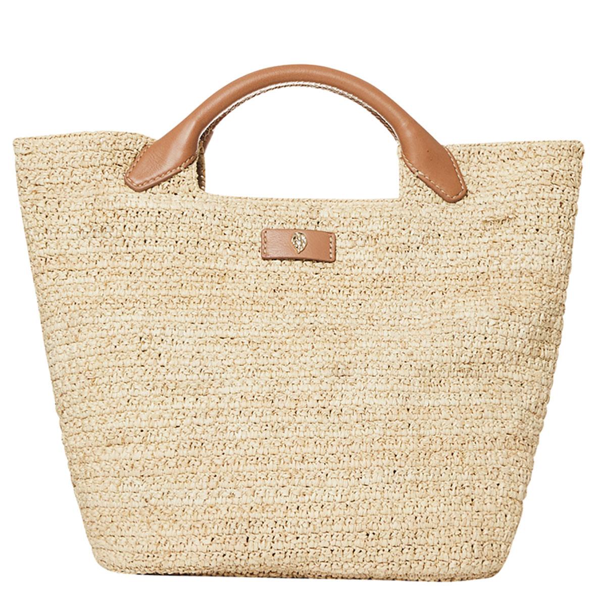 Helen Kaminski Cassia Small Basket in Natural,Tan