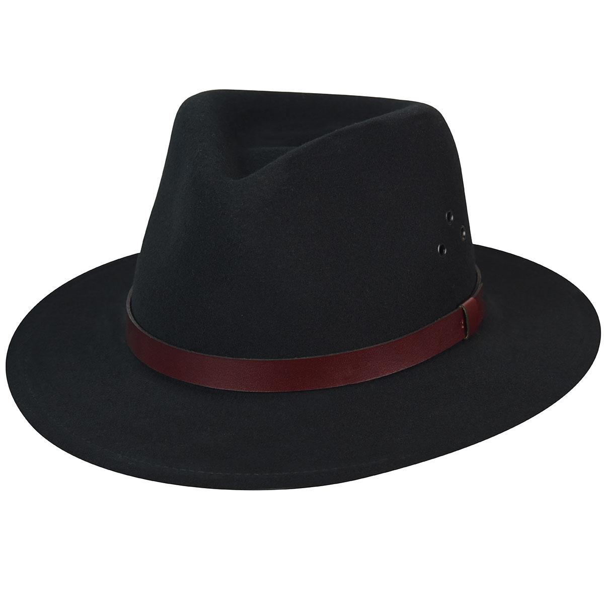 Country Gentleman Dickens GentleFelt Fedora in Black