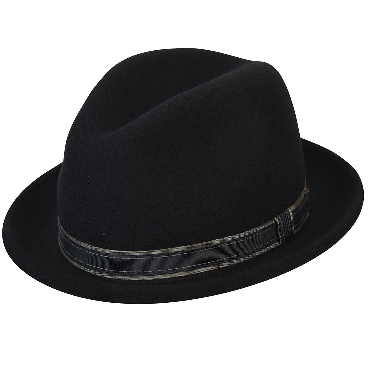 Country Gentleman Clooney Fedora in Black