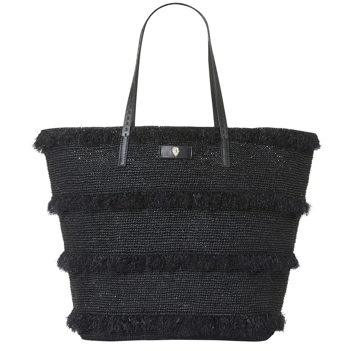 Helen Kaminski Davoletta Medium Fringe Basket in Charcoal,Black