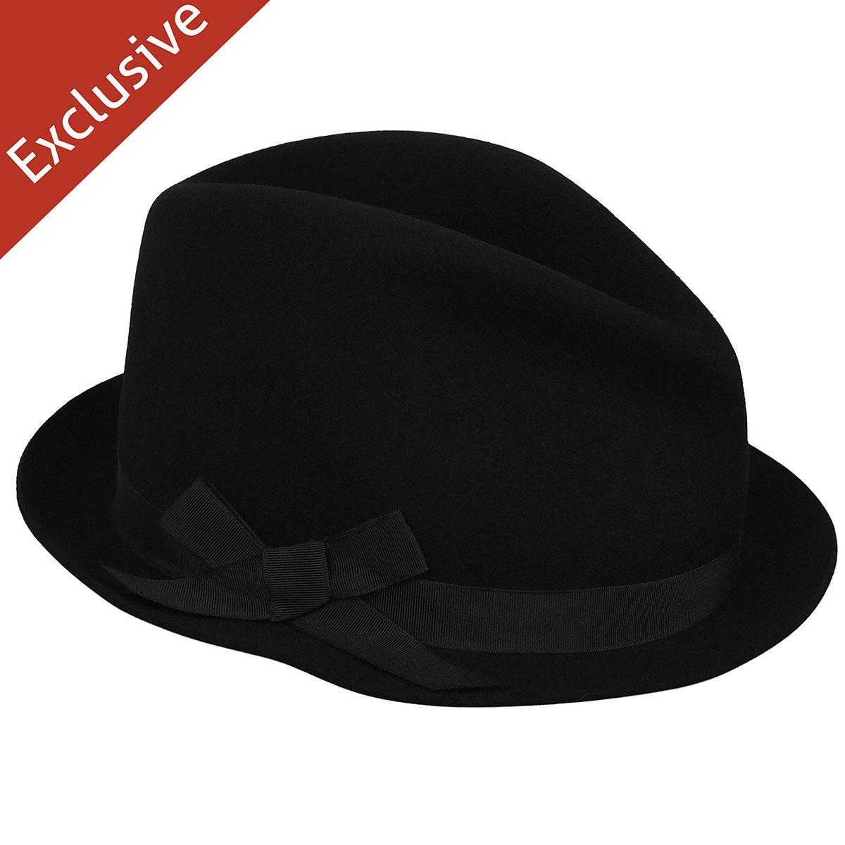 Hats.com Emma Fedora in Black