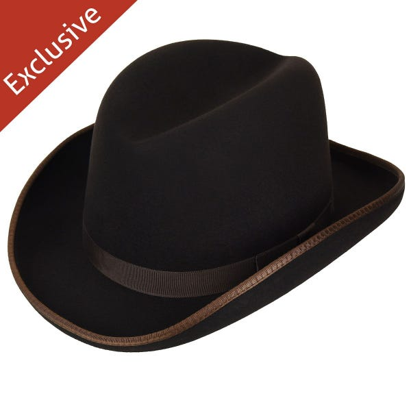 Victorian Men's Clothing, Fashion – 1840 to 1890s Big Boss Homburg - Exclusive $39.99 AT vintagedancer.com