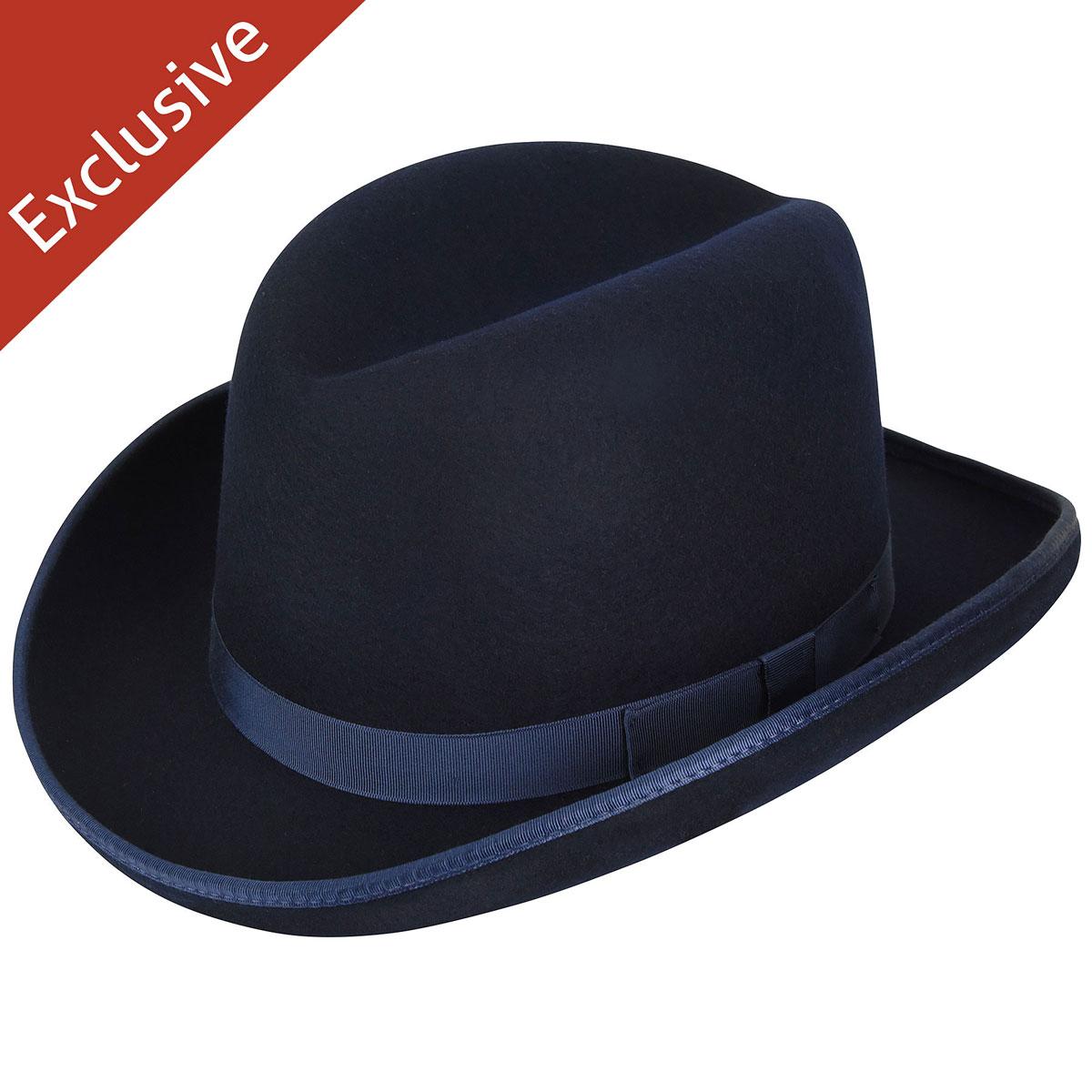 Hats.com Big Boss Homburg - Exclusive in Navy