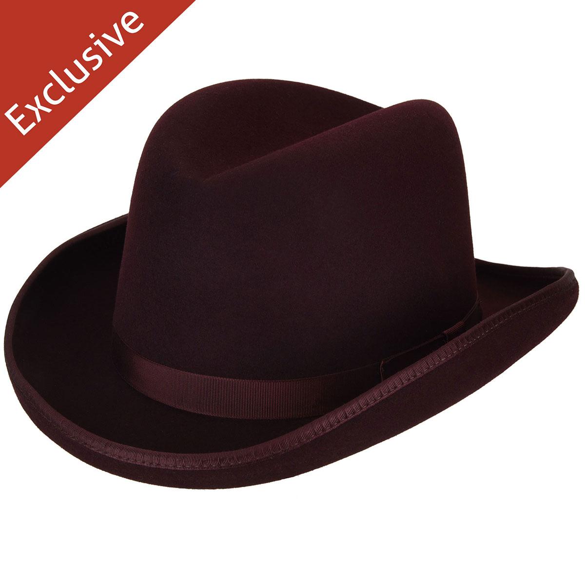 Hats.com Big Boss Homburg - Exclusive in Port