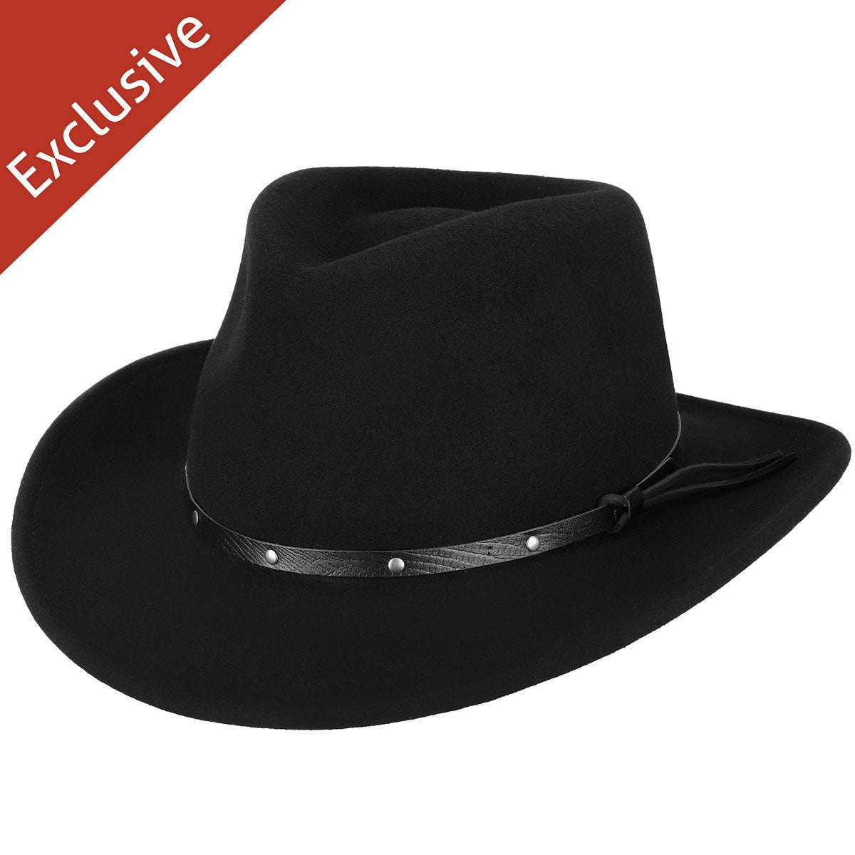 Hats.com Gallivanter Outback Hat - Exclusive in Black