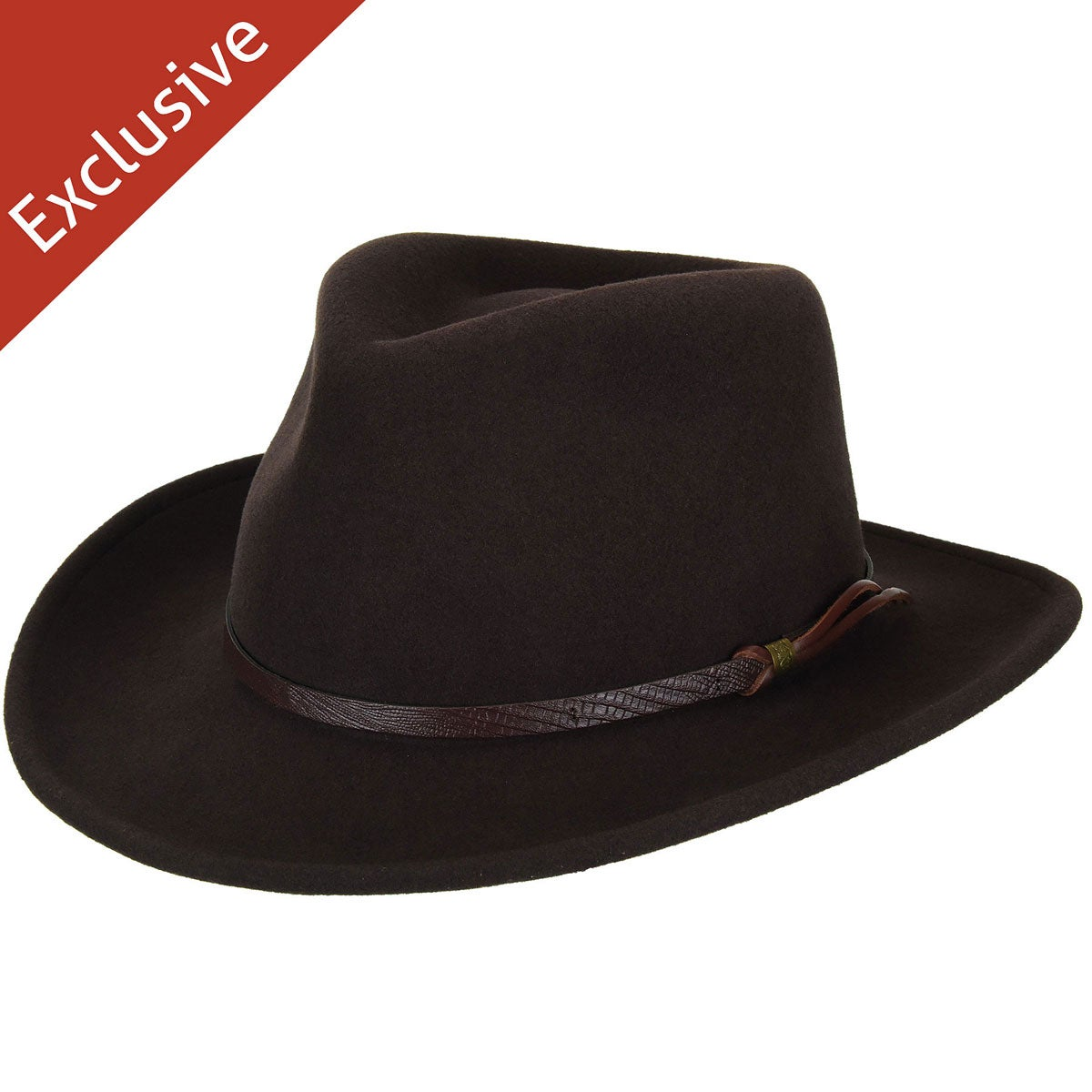 Hats.com Gallivanter Outback Hat - Exclusive in Brown