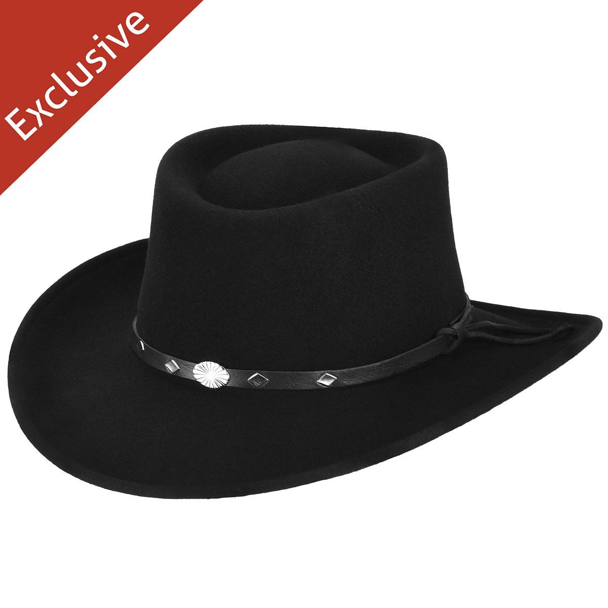 Hats.com Ace of Spades Gambler Hat - Exclusive in Black