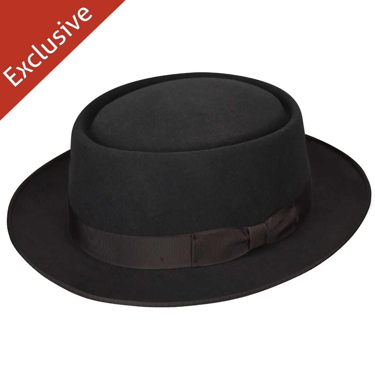 Hats.com Danger Pork Pie - Exclusive in Steel