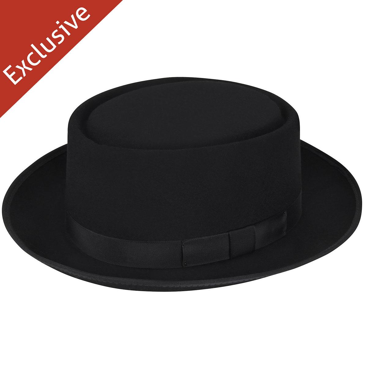 Hats.com Danger Pork Pie - Exclusive in Black