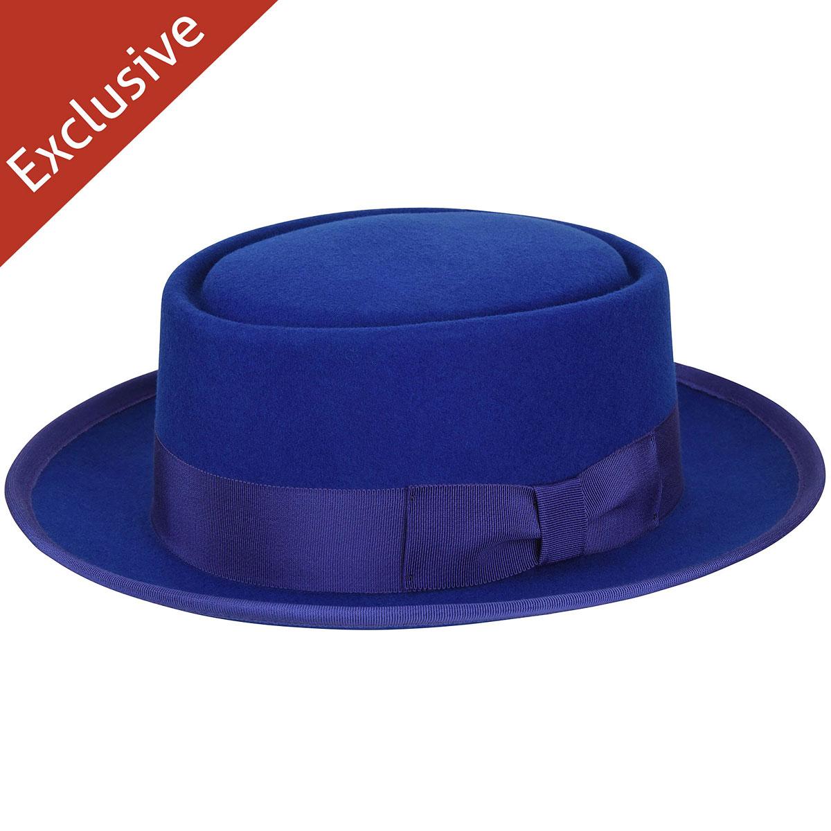 Hats.com Danger Pork Pie - Exclusive in Royal