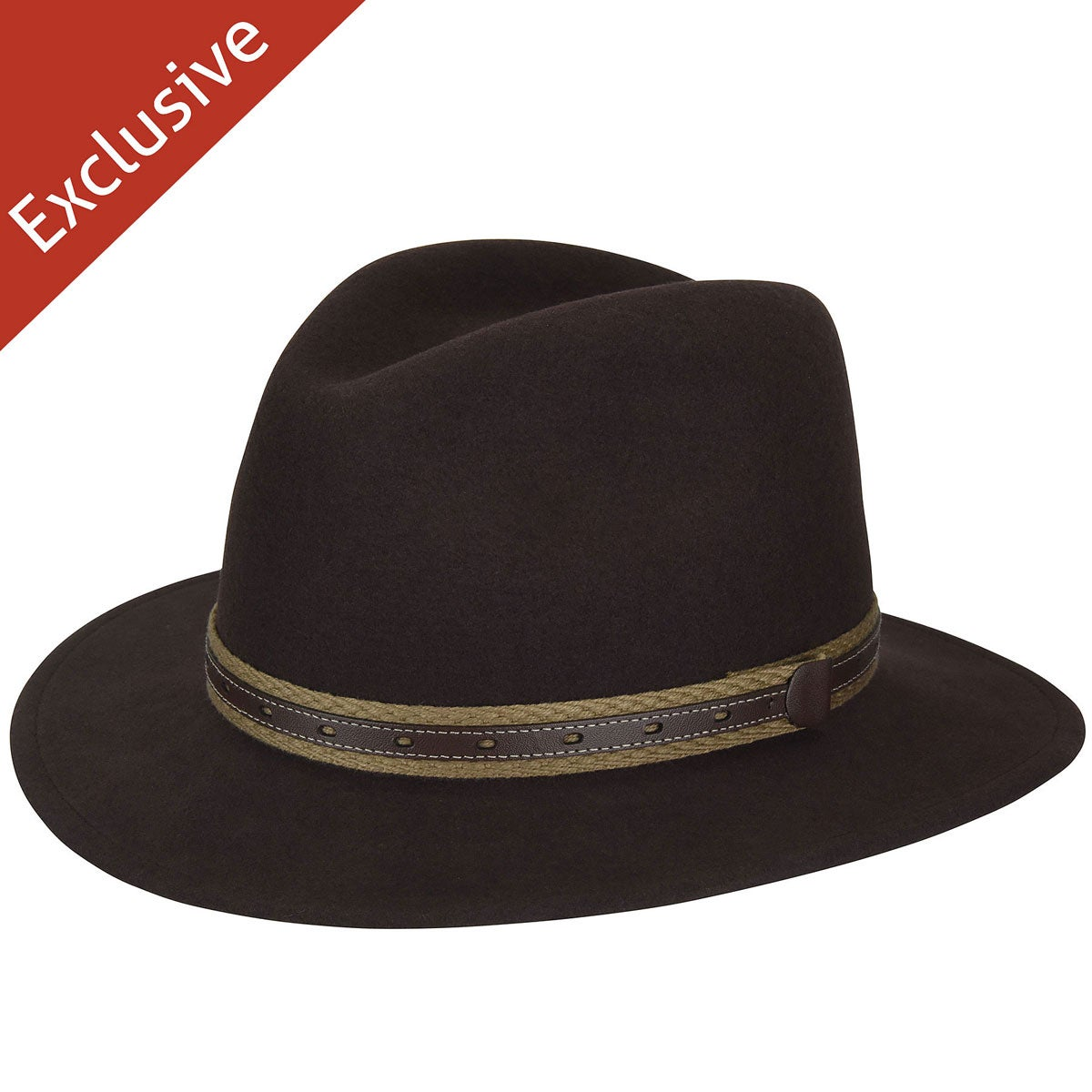 60s , 70s Hippie Clothes for Men Quest Safari Fedora - Exclusive $39.99 AT vintagedancer.com