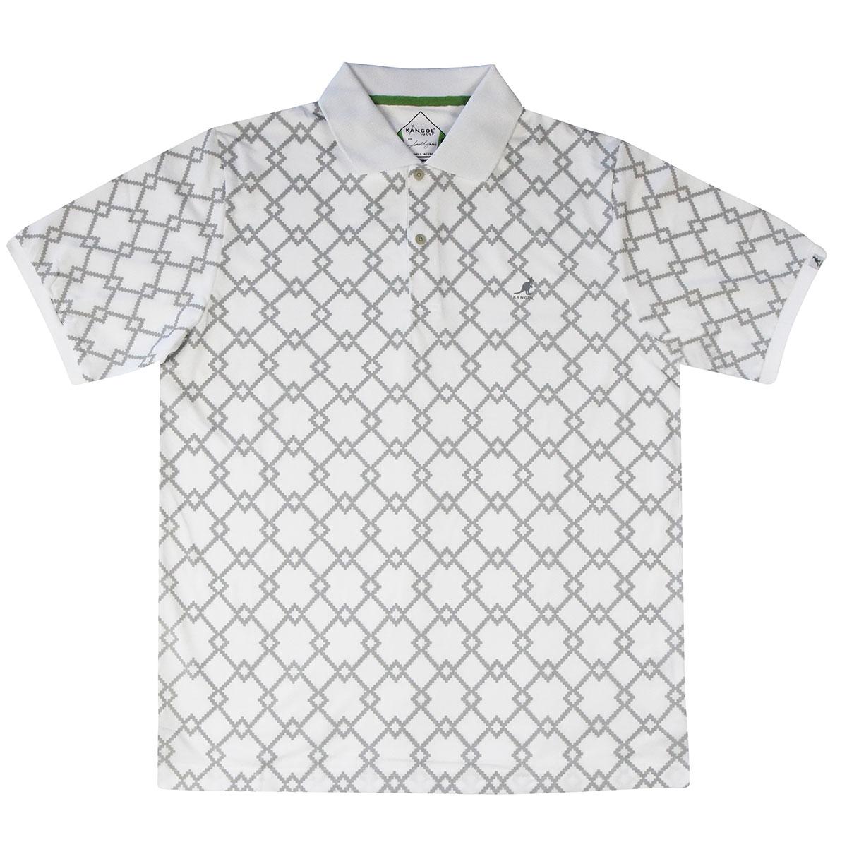 Kangol Samuel L. Jackson Golf Argyle Tex Polo Shirt in White