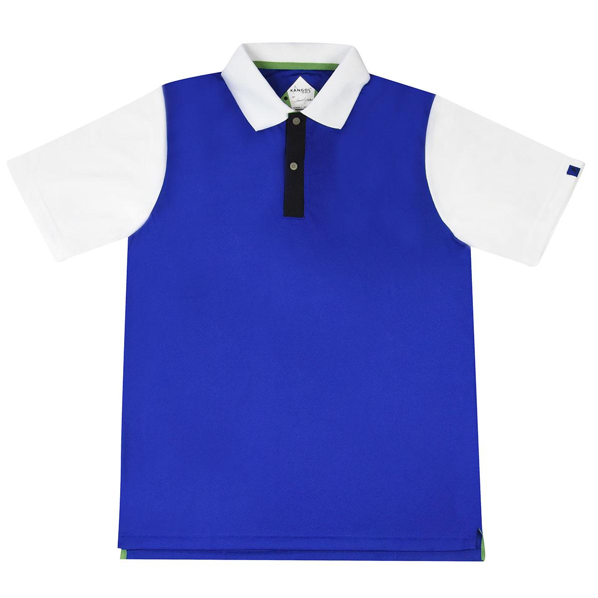 Kangol Samuel L. Jackson Golf Colour Block Polo Shirt in Marine