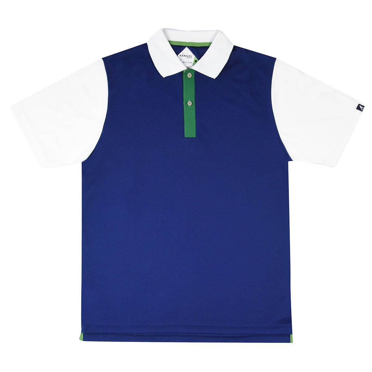 Kangol Samuel L. Jackson Golf Colour Block Polo Shirt in Navy