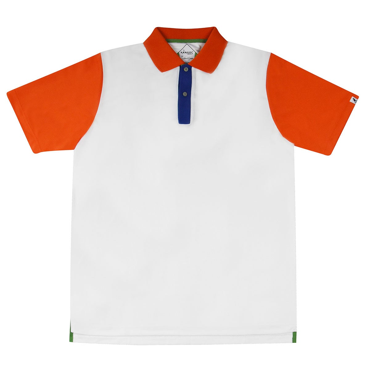 Kangol Samuel L. Jackson Golf Colour Block Polo Shirt in White