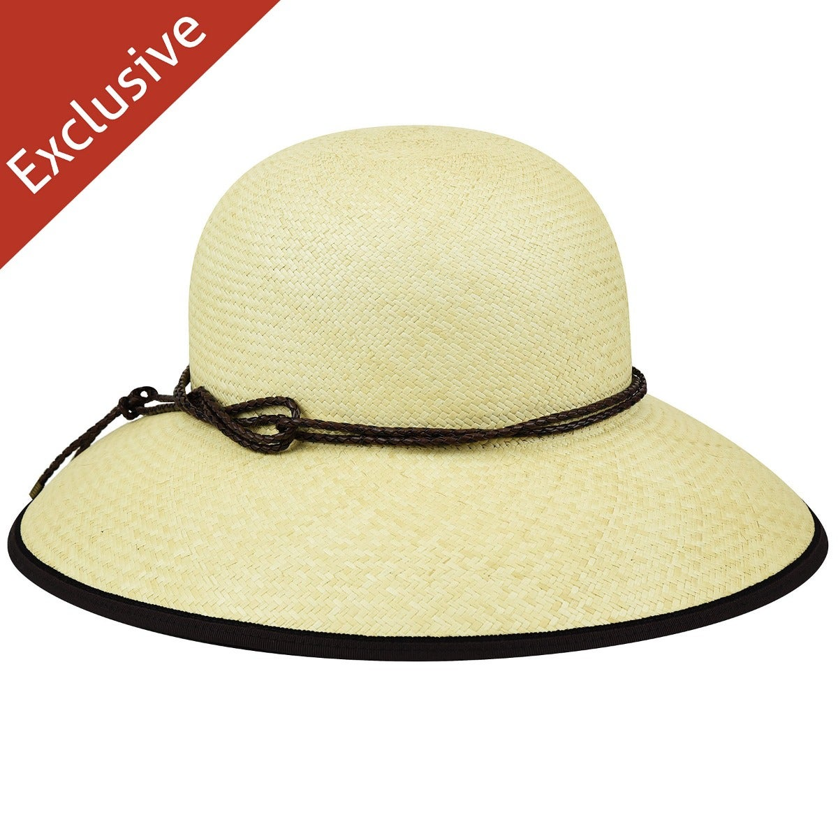 Lil W. Wide Brim Hat - Exclusive - Natural/L