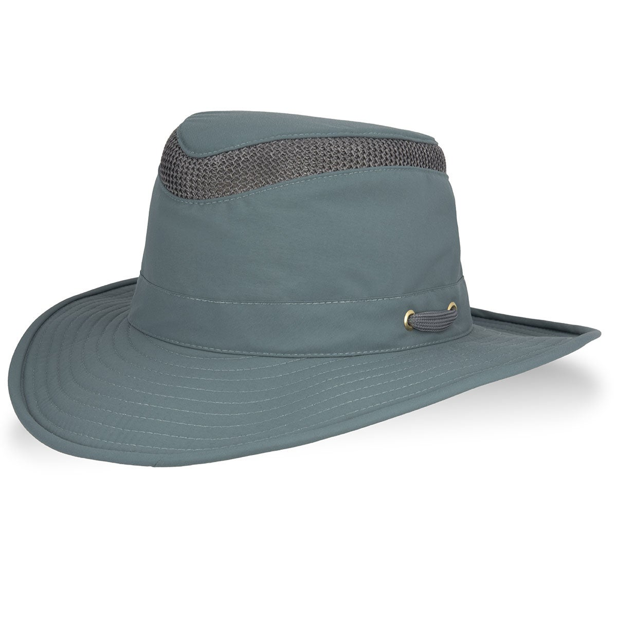 Tilley Airflo Lightweight Broad Brim Outback in Silver Pine