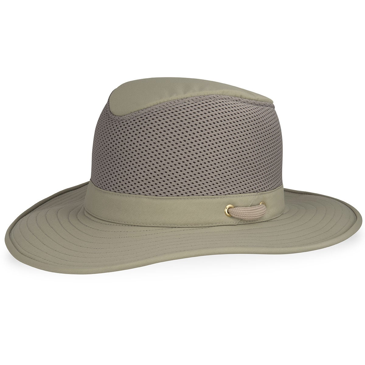 Tilley Airflo Broader Brim Nylon Mesh Hat in Khaki,Olive