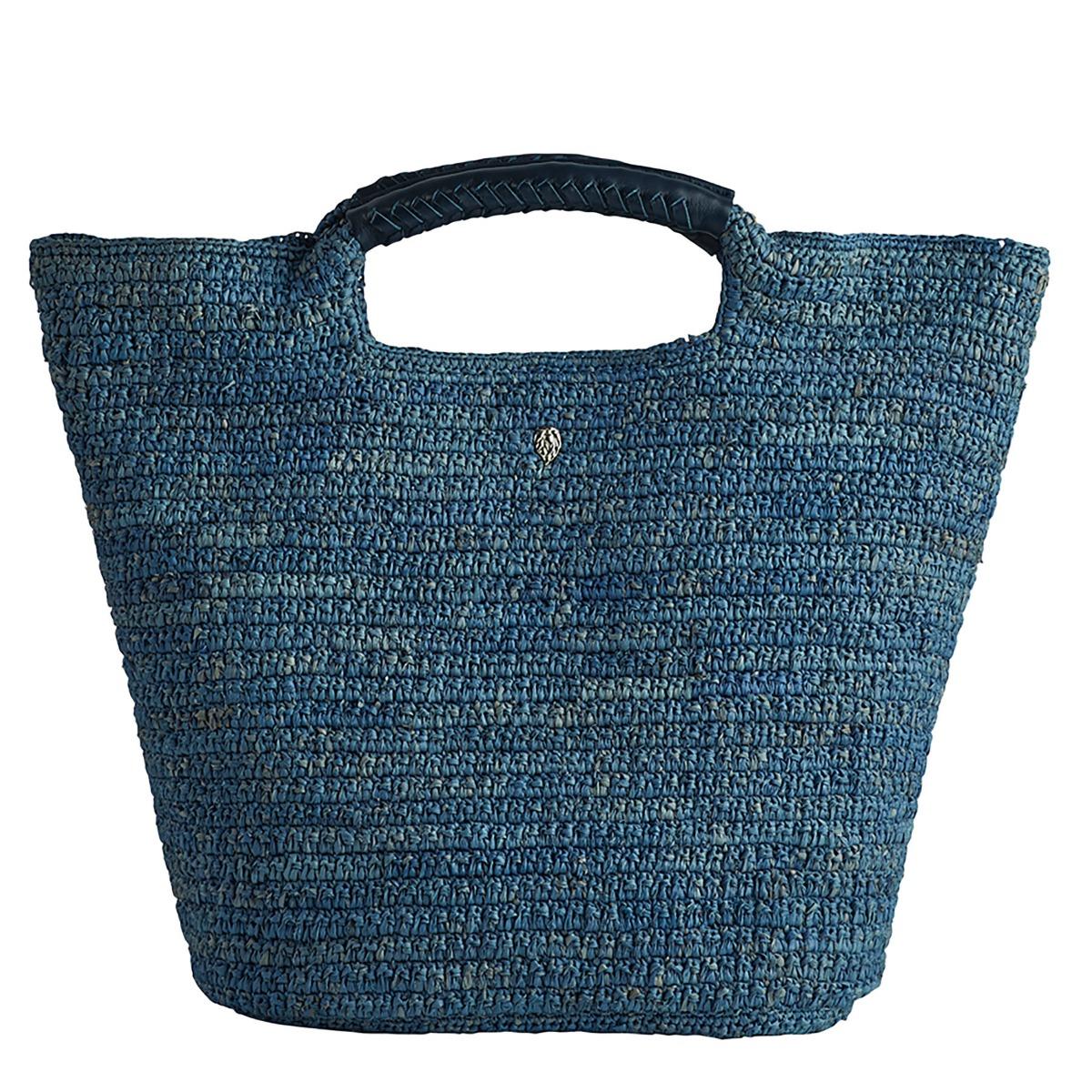 Helen Kaminski Petani Small Basket Bag in Glacial,Baltic