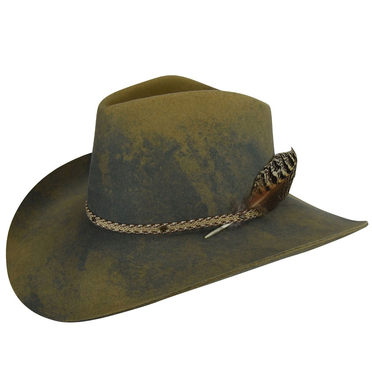 Renegade Renegade by Bailey Lucius Western Hat in Camel,Lite Steel Swirl