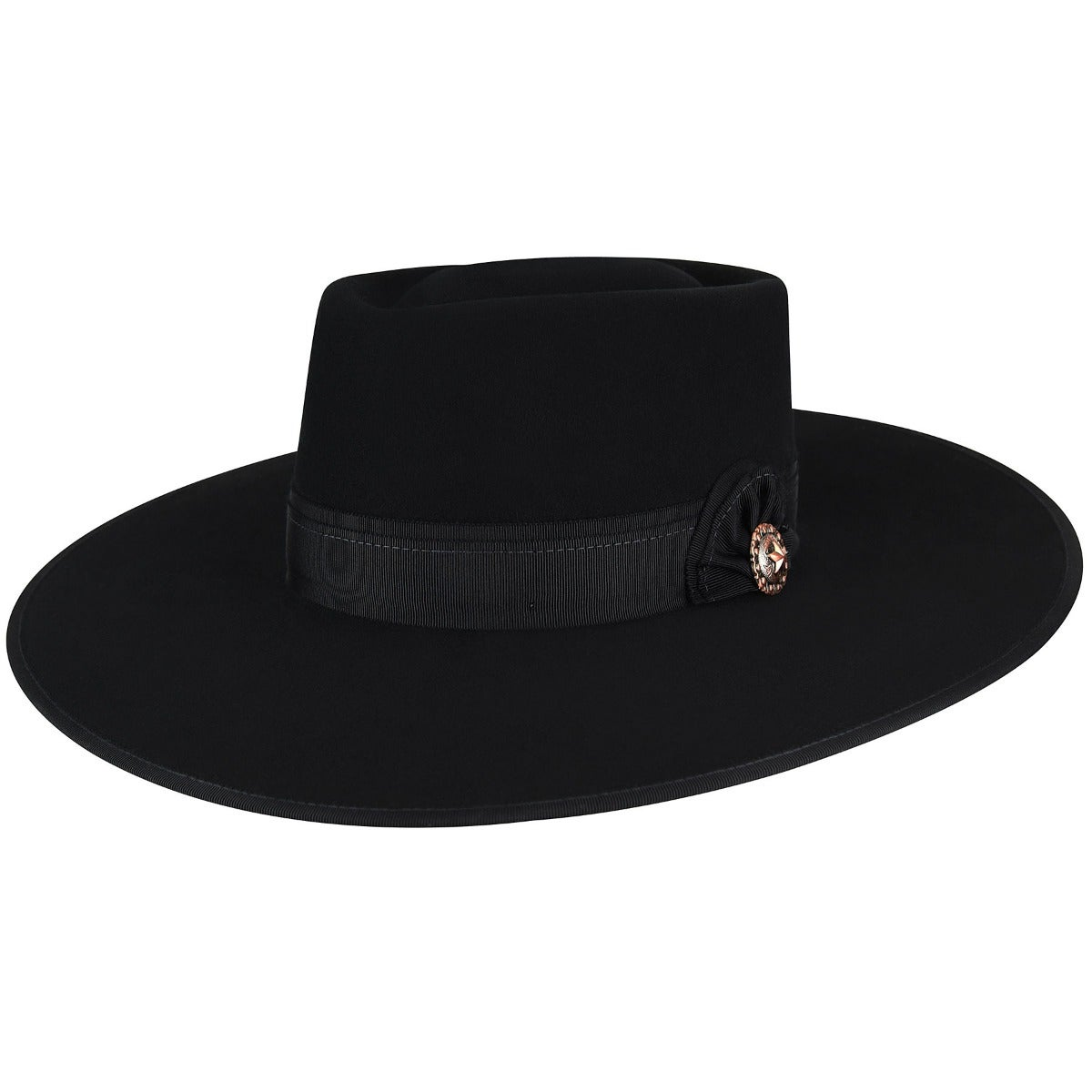 Steampunk Hats | Top Hats | Bowler Cowpuncher Western Hat $120.00 AT vintagedancer.com