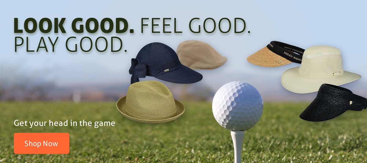 Look good. Feel good. Play good. Shop Golf hats.