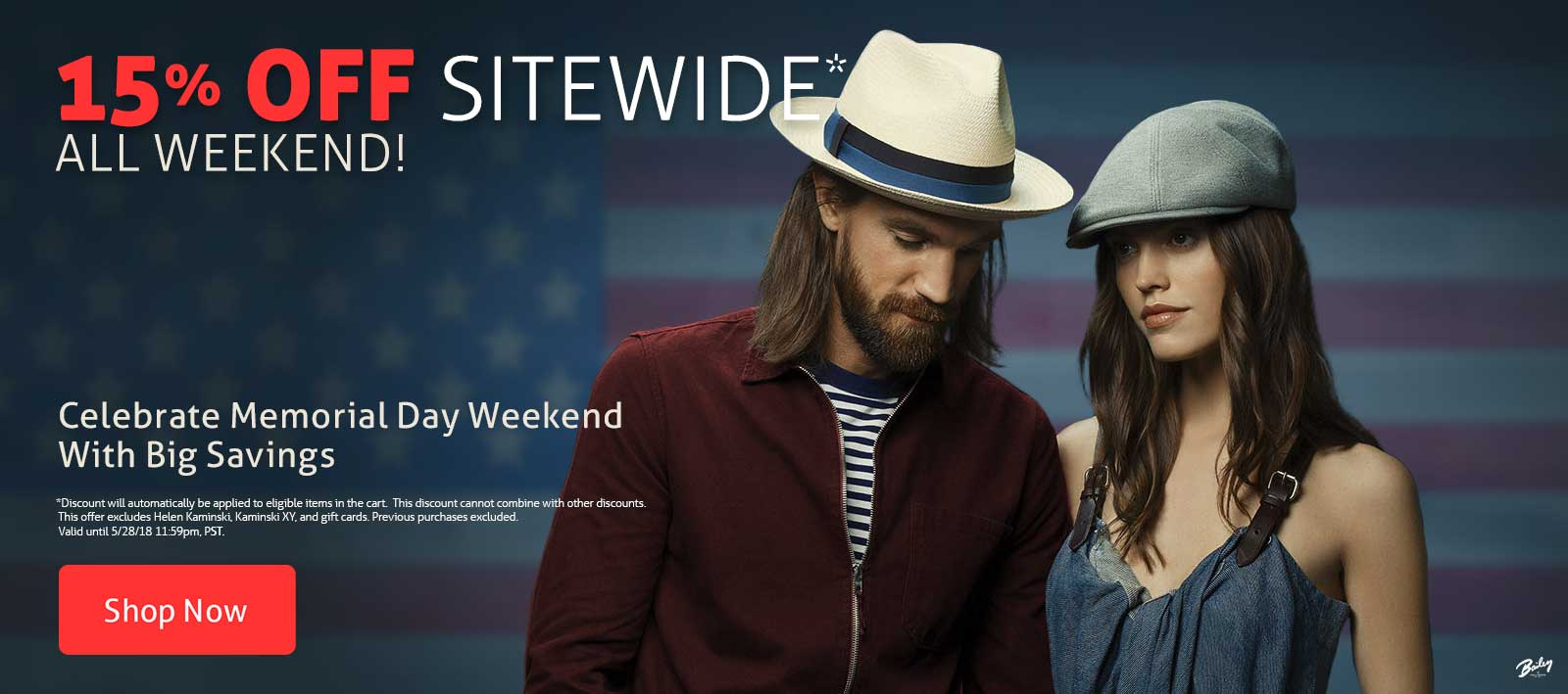 15% Off Sitewide* Celebrate Memorial Day Weekend with Big Savings