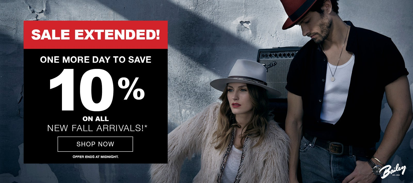 New Fall Arrivals Sale Extended