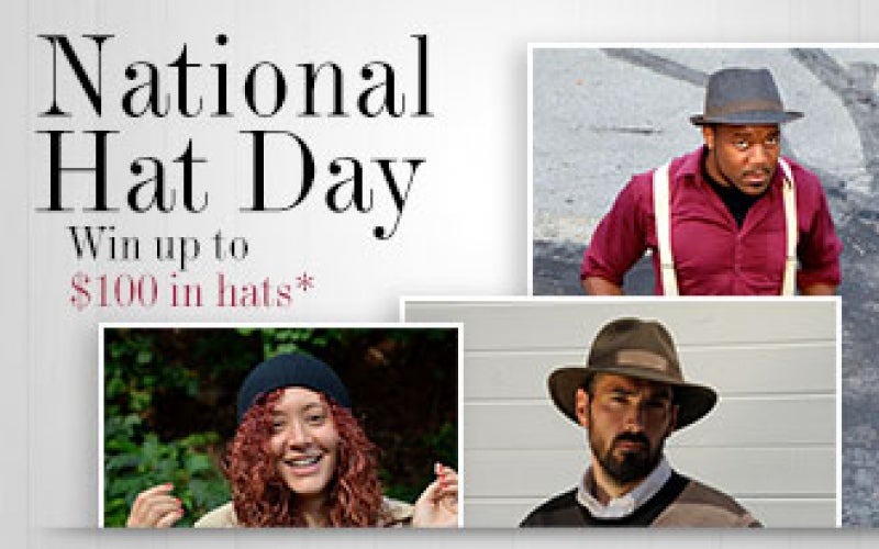 Celebrate National Hat Day! Win $100 To Buy Hats!