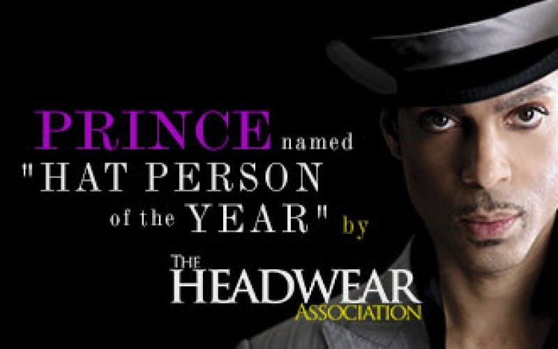 Prince Recognized by The Headwear Association